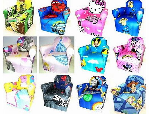 DISNEYS MICKEY MOUSE CHILDRENS BRANDED CARTOON CHARACTER ARMCHAIR CHAIR BEDROOM PLAYROOM KIDS SEAT