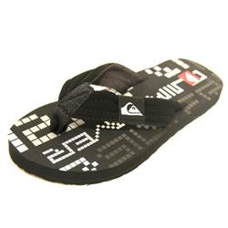 The Quiksilver Boys Little Quilted Pixelator Flip Flops are available in Black/Grey/White. These Quality Quiksilver Boys Flips Flops Feature: Quilted Synthetic Nubuck Strap Woven Lining Anatomically Correct Arch Support Durable Eva Outsole - CLICK FOR MORE INFORMATION