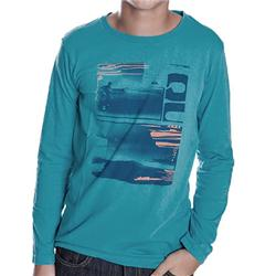 Quiksilver clothing eco t shirts for Boys teal t shirt