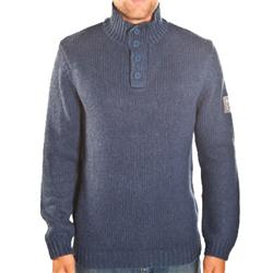 Quiksilver Lipova Button Neck Sweatshirt - Eclipse
