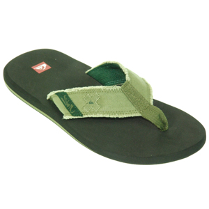 Mens Quiksilver Abyss Flip Flops. Light Army