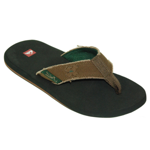 Mens Quiksilver Abyss Flip Flops. Light Chocolate