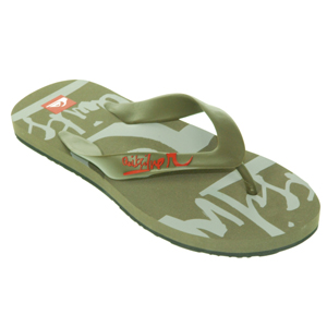 Mens Quiksilver Icon Flip Flops. Brown