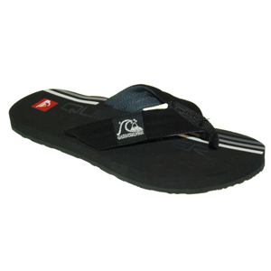 Mens Quiksilver Retrolio Flip Flops. Black