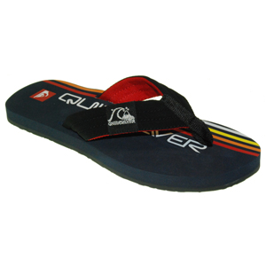 Mens Quiksilver Retrolio Flip Flops. Navy