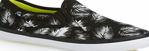 Mens Quiksilver shoes; Slip-on style; Crafted with comfortable lightweight and breathable canvas; Added comfort with layered insole and arch support; Superior traction with herringbone design to Quiksilver outsole; Stylish all over feather print; Mat - CLICK FOR MORE INFORMATION