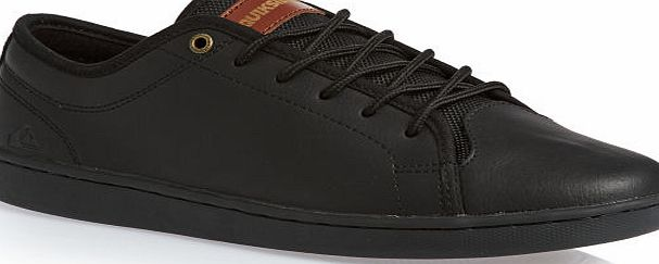 Mens Quiksilver shoes; Crafted with stylish leather; Added comfort with fabric lining; Quiksilver boardshort top eyelet; Added support with slim flexible cupsole construction; Quiksilver leather tab to tongue; Materials: Upper: 70% Leather. Lining: C - CLICK FOR MORE INFORMATION