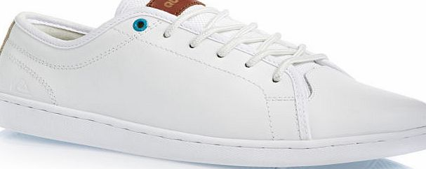 Mens Quiksilver shoes; Added comfort with fabric lining; Crafted with stylish leather; Added support with slim flexible cupsole construction; Quiksilver boardshort top eyelet; Quiksilver leather tab to tongue; Materials: Upper: 70% Leather. Lining: C - CLICK FOR MORE INFORMATION