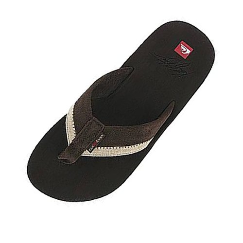 Mens Quiksilver Kelly Slater Flip Flops Brown