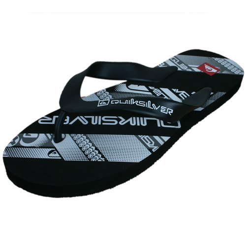 These Quiksilver Typo Flip Flops offer great style at a low price with All over Bright Branded Design that Corresponds with the rest of their seasons collection these flips even have anatomically correct footbed for extra support! - CLICK FOR MORE INFORMATION