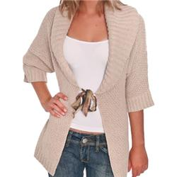 Women Fictions Knit Jacket - Stone