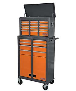 Consists of 9 drawer chest and 4 drawer trolley. All steel construction. Tough industrial powder coa - CLICK FOR MORE INFORMATION