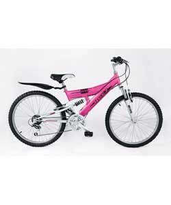 24in Roxz Girls Dual Suspension Bike