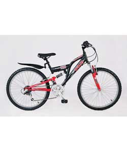 24in Wikid Boys Dual Suspension Bike