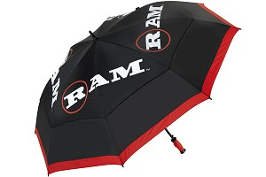 Auto Open 62and#8221; Dual Canopy Golf Umbrella