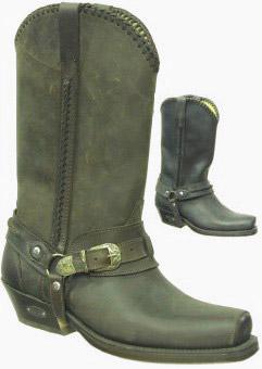 ranch house loblan cowboy boots 548 matt black