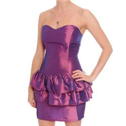 rare Mollie Peplum Dress - Purple