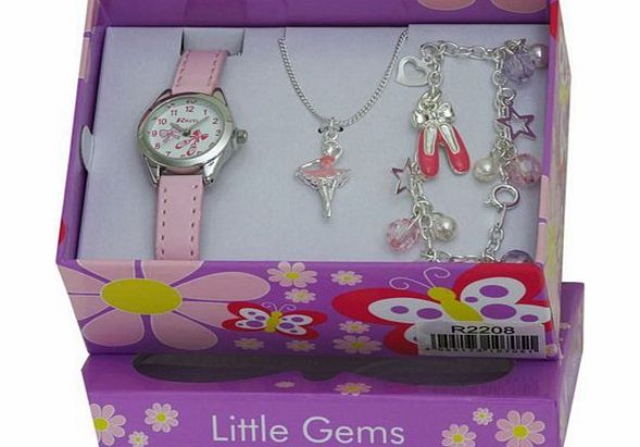Ravel Childrens Jewellery Set: Little Gems Ballerina Watch, Ballerina Bracelet, Ballerina Necklace in Presentation Box product image