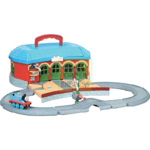 All-in-one portable Take Along play set Front opens to form complete train layout Features Take - CLICK FOR MORE INFORMATION