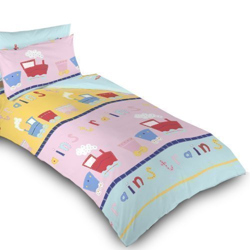 Ready steady bed childrens single bed train print duvet for Ready set decor reviews