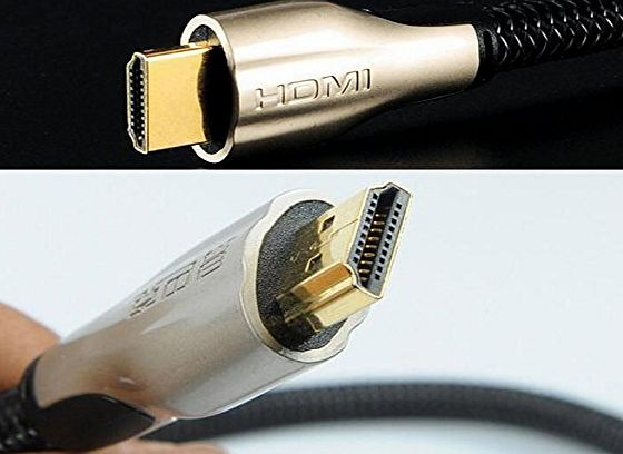REALMAX® - UK REALMAX® 1m 2m 3m 4m 5m 10m HDMI Cable High Speed Gold Premium Quality supports all HD ready devices and gadgets (3m, Black)