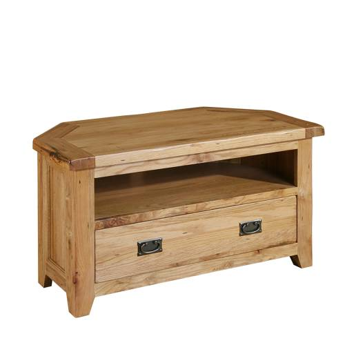 Reclaimed Oak Corner TV Unit