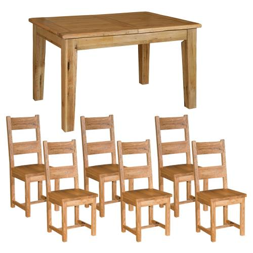Reclaimed Oak Small Dining Set + Wooden Chairs product image