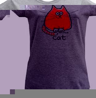 Red Dog Wear Womens CAT grey T.shirt. Large (sz: 12)