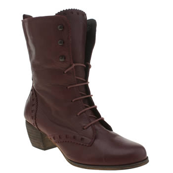 Red Or Dead Burgundy Harriet Hope Boots