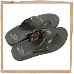 Fanning Solid Flip Flop Green Camo