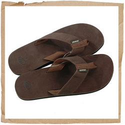 Leather Smoothy Flip Flop Brown