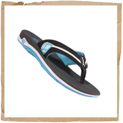 Reef Lucia Sandal Sporty Synthetic Upper & Overlays Printed Jersey Lining Compression Molded EVA Midsole Grippy Molded Rubber Outsole Reef Logos Reef Code: 1568 - CLICK FOR MORE INFORMATION