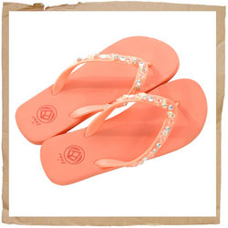 Reef Palm Beach Classic Flip Flop  Need a Little Beach Glam?  Soft Rubber Strap with Shells and Bead - CLICK FOR MORE INFORMATION
