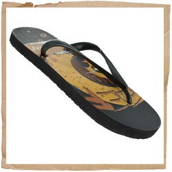 Reef Trinidad Flip Flop  Classic Water Friendly Upper With Integrated Reef Logos  Anchored Straps In - CLICK FOR MORE INFORMATION
