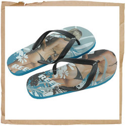 Reef Trinidad Flip Flop New Water Friendly Upper Low Profile Sandal Body Construction for Comfort Anchored Strap for Increased Durability Full Colour Photo Quality Artwork - CLICK FOR MORE INFORMATION