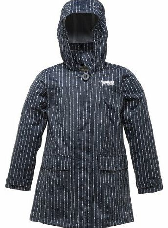 Rachael Girls Waterproof Hydrafort Patterned Jacket (Navy, 5 - 6 years (chest 59-61cm))