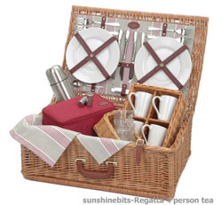 Tea Lovers Picnic Basket-4 Person