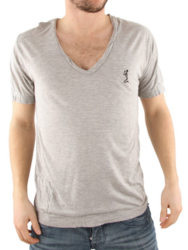 Religion Grey Twisted V-Neck T-Shirt product image
