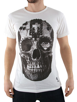 Religion White Skull Studded T-Shirt product image