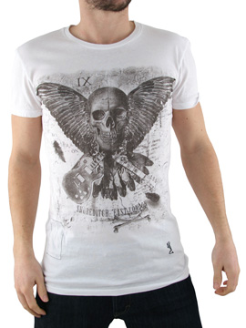 Religion White Skull Wing T-Shirt product image