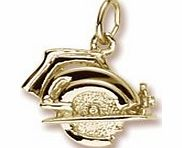 Rembrandt Charms Electric Saw Charm, Gold Plated Silver product image
