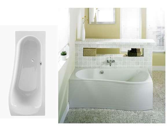 Nelson Bath 1700x700mm Space saver Left