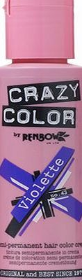 Renbow Crazy Color Semi Permanent Hair Color Cream Violette No.43 100ml