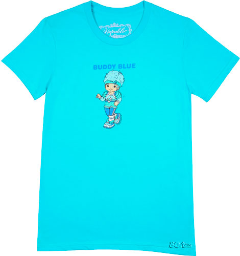 Republic Couture Ladies Buddy Blue Rainbow Brite T-Shirt from Republic Couture product image