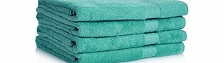 Four jade pure cotton bath sheets