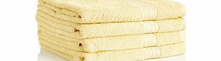 Four lemon pure cotton bath sheets