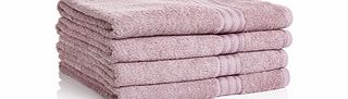 Four mauve Egyptian cotton bath sheets