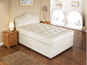 The Restus Gemini Back Support Divan Bed is part of the Ortho beds collection and features the following: Firm mattress 12.5 gauge Bonnell open coil spring unit with 9 gauge steel rod frame Provides maximum back support sleep system Strong insulated  - CLICK FOR MORE INFORMATION