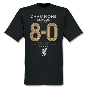 Retake Liverpool UCL 8-0 Record T-shirt - Black product image