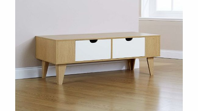 Ivory Reception Occasional Table 2 Drawers Tapered Legs product image